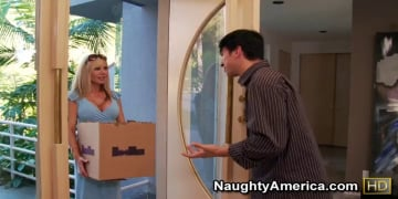 Cindi Sinderson and Anthony Rosano in Neighbor Affair