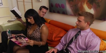 Shazia Sahari and Bill Bailey in Naughty Office
