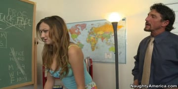 Victoria Rae Black and Tommy Gunn in Naughty Bookworms