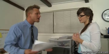 Holly Michaels and Bill Bailey in Naughty Office