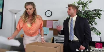 Samantha Saint and Bill Bailey in Naughty Office