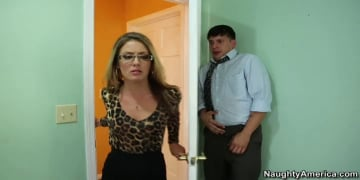 Sheena Shaw and Anthony Rosano in Naughty Office
