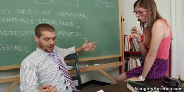 Lara Brookes and Xander Corvus in Naughty Bookworms