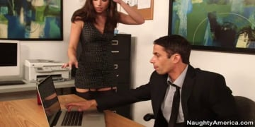Casey Calvert and Alan Stafford in Naughty Office