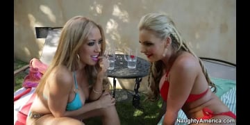 Phoenix Marie, Capri Cavanni and Johnny Castle in 2 Chicks Same Time