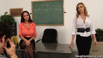 Tanya Tate, Ava Addams and Giovanni Francesco in My First Sex Teacher