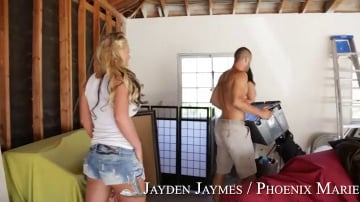 Phoenix Marie, Jayden Jaymes and Danny Mountain in 2 Chicks Same Time