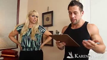 Karen Fisher and Johnny Castle in Seduced by a cougar