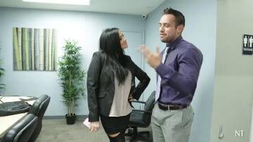 Audrey Bitoni and Johnny Castle in Naughty Office