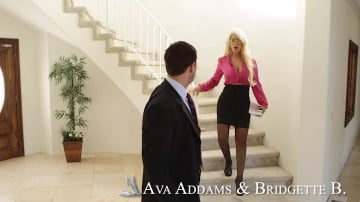 Bridgette B., Ava Addams and Preston Parker in Naughty Office