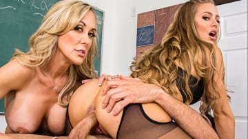 Brandi Love and Nicole Aniston and Ryan Driller in My First Sex Teacher