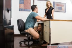 Brandi Love and Nicole Aniston and Ryan Driller in My First Sex Teacher (Thumb 02)