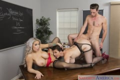 Alyssa Lynn and Sara Jay and Lucas Frost in My First Sex Teacher (Thumb 12)