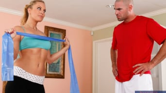 Kiara Diane in 'and Charles Dera in Naughty Athletics'
