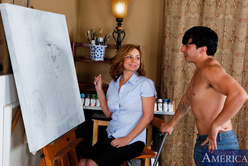 Naughty America 'and Anthony Rosano in My Friends Hot Mom' starring Rebecca Bardoux (Photo 1)