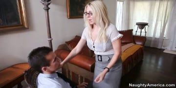Angela Attison and Talon in Naughty Office
