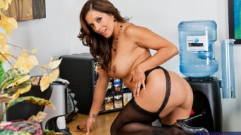 Francesca Le in 'and Bill Bailey in Naughty Office'