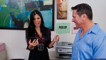 Rebeca Linares in 'and John Strong in Naughty Office'