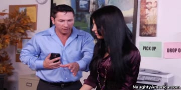 Rebeca Linares and John Strong in Naughty Office
