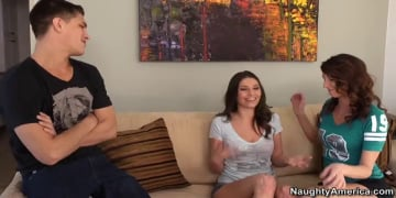 Victoria Lawson, Katie Jordin and Bruce Venture in My Friend's Hot Girl