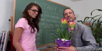 Ashley Storm en 'and Tony DeSergio in Naughty Bookworms'