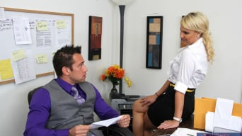 Destiny Jaymes in 'and Johnny Castle in Naughty Office'