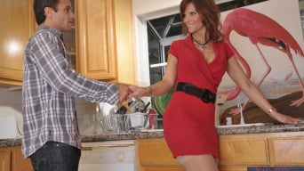 Syren De Mer in 'and Alan Stafford in My Friends Hot Mom'