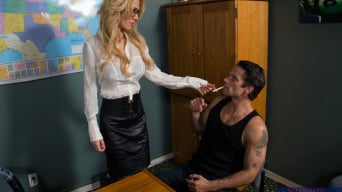Sarah Jessie in 'and Alan Stafford in Naughty Office'