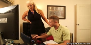 Alura Jenson and Bill Bailey in Seduced by a cougar