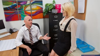 Ash Hollywood in 'and Johnny Sins in Naughty Office'