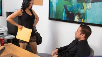 Rachel Starr en 'and Johnny Castle in Naughty Office'