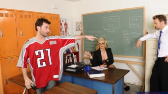 Phoenix Marie in 'Phoenix Marie, James Deen and Erik Everhard in My First Sex Teacher'
