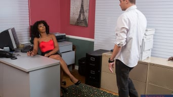 Misty Stone in 'and Xander Corvus in Naughty Office'