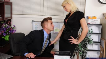 Anikka Albrite in 'and Bill Bailey in Naughty Office'