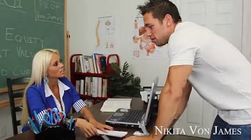 Nikita Von James and Johnny Castle in My First Sex Teacher