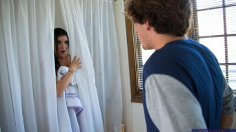 Romi Rain in 'and Tyler Nixon in My Dad's Hot Girlfriend'