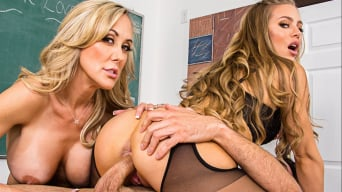 Brandi Love in 'and Nicole Aniston and Ryan Driller in My First Sex Teacher'