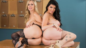 Julia Ann en 'and Romi Rain and Tyler Nixon in Naughty Office'