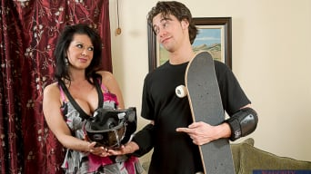 Raquel Devine in 'and Seth Gamble in My Friends Hot Mom'