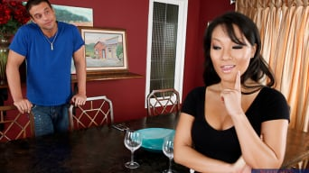 Asa Akira in 'and Rocco Reed in My Dad's Hot Girlfriend'