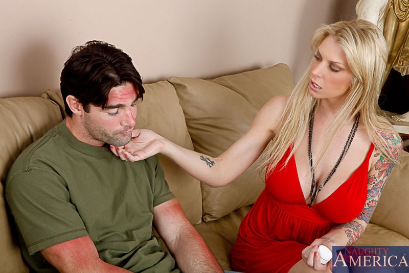 Naughty America 'and Charles Dera in My Wife's Hot Friend' starring Brooke Banner (Photo 1)