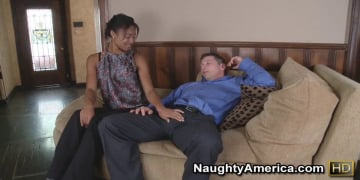 Evanni Solei and John Strong in Naughty Office