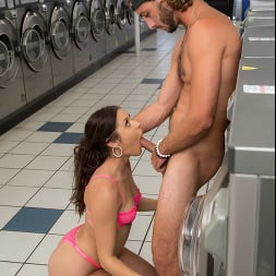 Catalina Ossa in 'Naughty America' gets dick from stranger while washing her dirty clothes (Thumbnail 34)