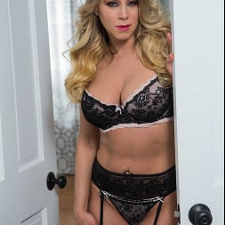 Katie Morgan in 'Naughty America' fucks her husband's college friend for missing dinner (Thumbnail 1)