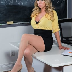 Katie Morgan in 'Naughty America' gets a much needed fucking from her student (Thumbnail 1)