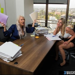 London River in 'Naughty America' and Rachael Cavalli have hot threesome in the office with their co-worker in order to leave early for Labor Day (Thumbnail 18)