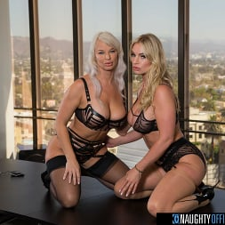London River in 'Naughty America' and Rachael Cavalli have hot threesome in the office with their co-worker in order to leave early for Labor Day (Thumbnail 216)