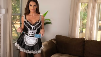 Silvia Saige in 'cleans up a mess before fucking a married man'